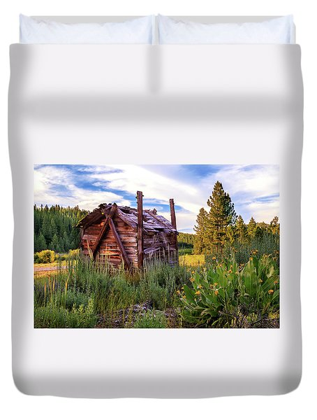 Old Lumber Mill Cabin Duvet Cover