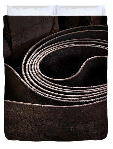 Old Machine Belt Duvet Cover