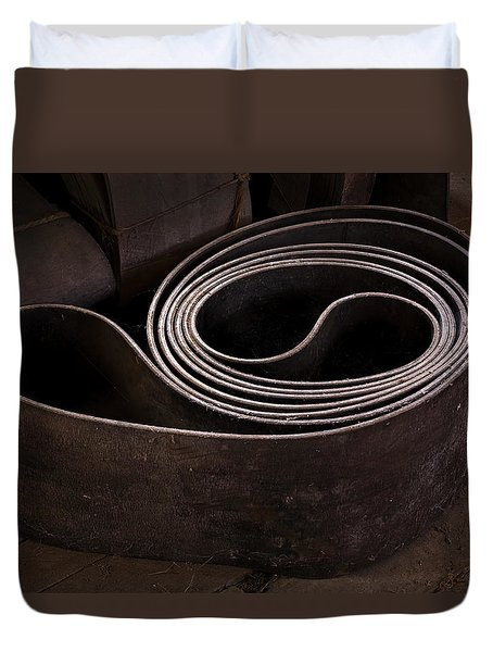 Old Machine Belt Duvet Cover by Tom Singleton