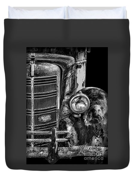 Old Mack Truck Front End Duvet Cover
