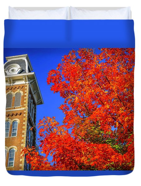 Old Main Maple Duvet Cover by Damon Shaw