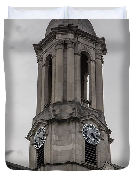 Old Main Penn State Clock  Duvet Cover