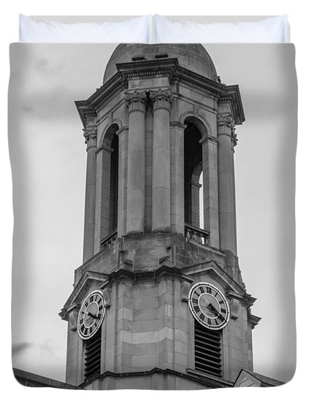Old Main Tower Penn State Duvet Cover