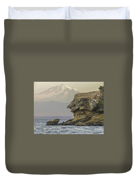 Old Man And The Mountain Duvet Cover
