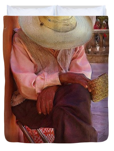 Old Man In Atottonilco Duvet Cover
