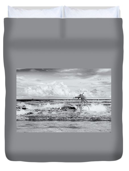 Duvet Cover featuring the photograph Old Man In The Sea by Carolyn Dalessandro