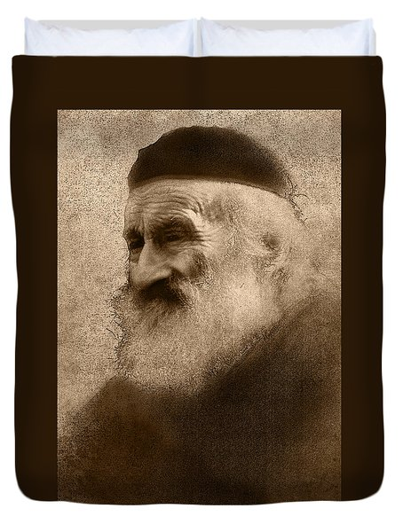 Old Man Of The Mountain Duvet Cover by Ron Jones