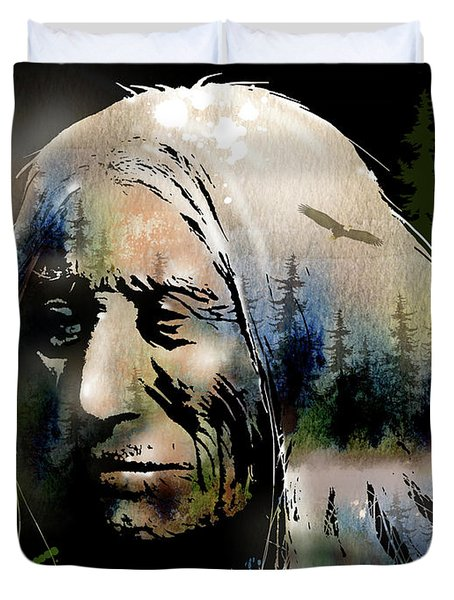 Old Man Of The Woods Duvet Cover by Paul Sachtleben