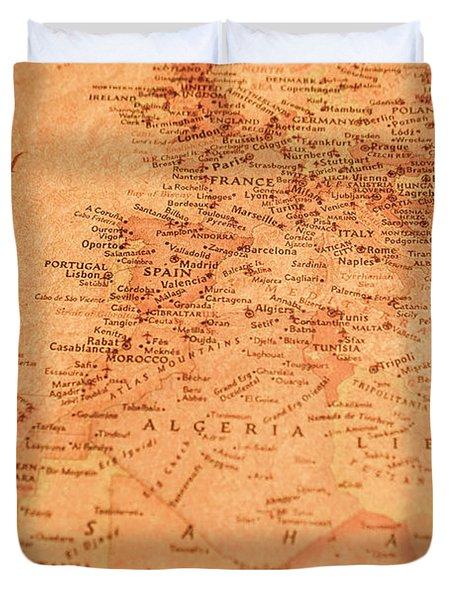 Old Maritime Map Duvet Cover