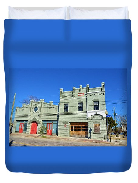 Old Market And Fire House Duvet Cover