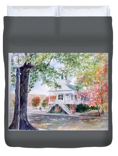 Old Market Hall Cheraw Duvet Cover by Gloria Turner