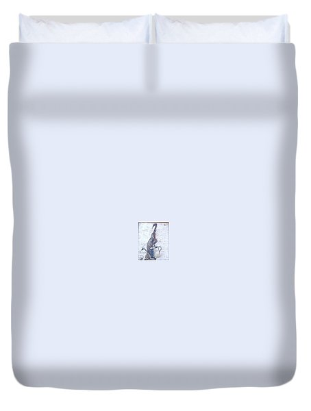 Duvet Cover featuring the painting Old Metal by Natalia Tejera