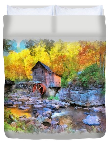 Old Mill Aquarelle Duvet Cover