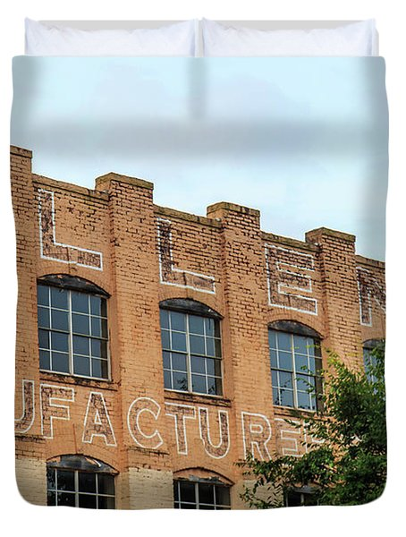 Old Mill Building In Buford Duvet Cover