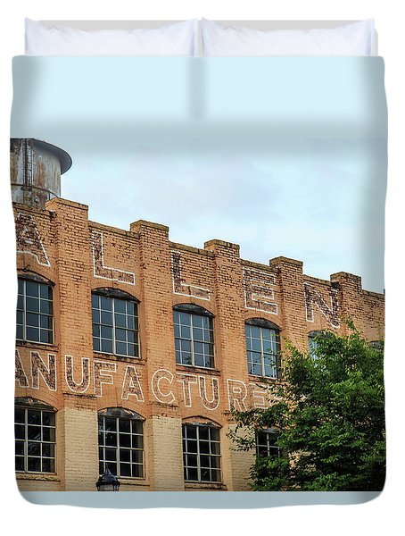 Duvet Cover featuring the photograph Old Mill Building In Buford by Doug Camara