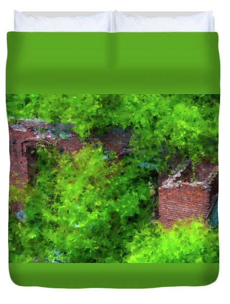 Old Mill Building In Lawrence Massachusetts Duvet Cover