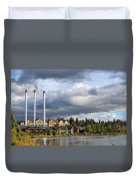 Old Mill District Duvet Cover