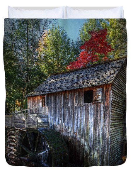 Old Mill In Fall  Duvet Cover