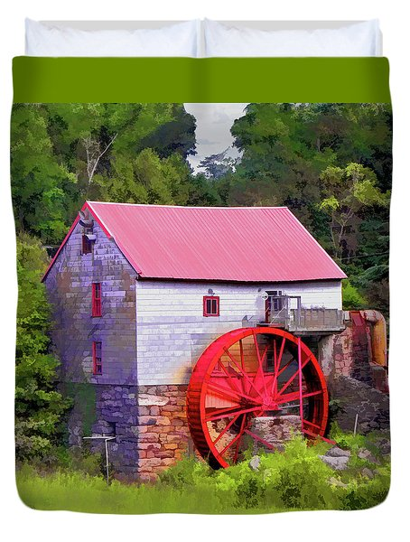Old Mill Of Guilford Painted Square Duvet Cover by Sandi OReilly