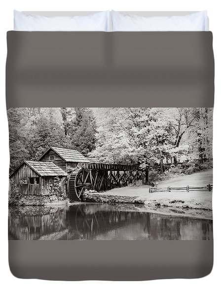 Old Mill On The Mountain Duvet Cover