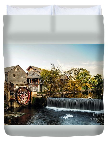 Old Mill Restaurant Duvet Cover by Debbie Green