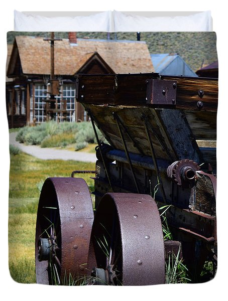 Old Mine Cart Duvet Cover