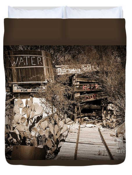 Old Mining Tracks Duvet Cover