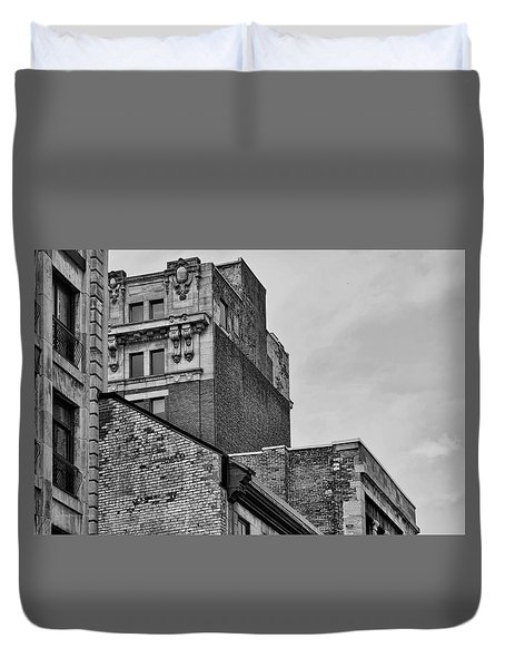 Old Montreal Buildings  Duvet Cover by Maria Angelica Maira