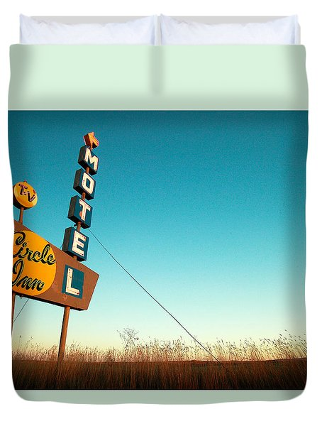 Old Motel Neon Duvet Cover
