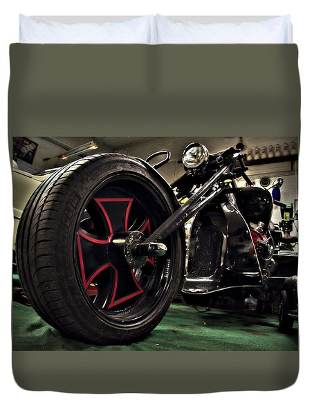 Old Motorbike Duvet Cover