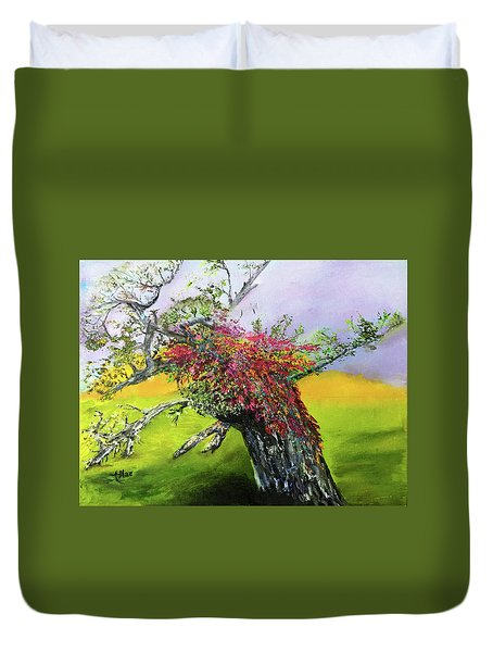 Old Nantucket Tree Duvet Cover