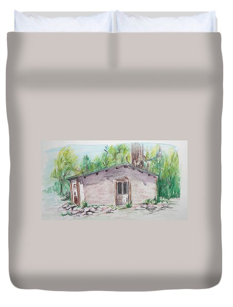 Old New Mexico House Duvet Cover