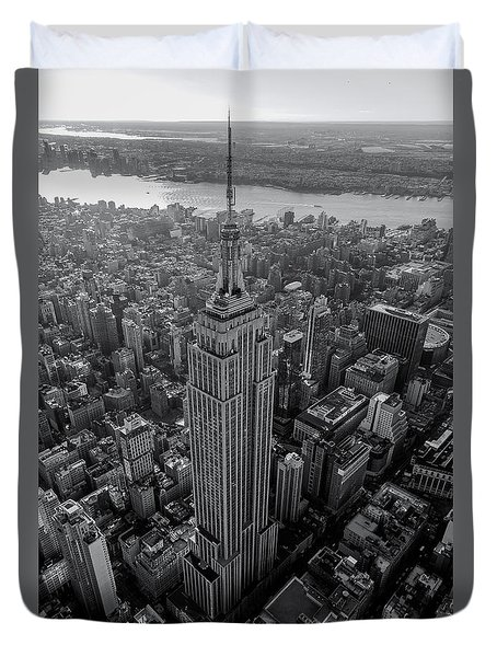 Duvet Cover featuring the photograph Old New New York  by Anthony Fields