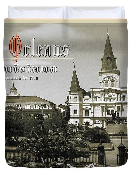 Old New Orleans Louisiana - Founded 1718 Duvet Cover