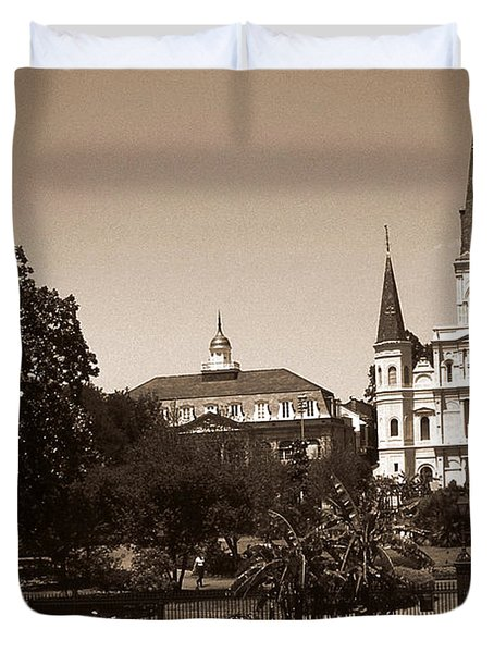 Old New Orleans Photo - Saint Louis Cathedral Duvet Cover