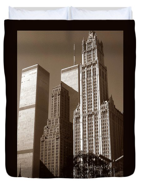 Old New York Photo - Woolworth Building Duvet Cover
