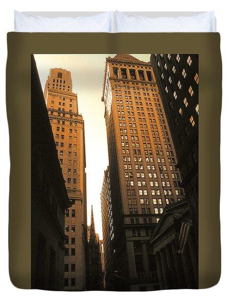 Old New York Wall Street Duvet Cover