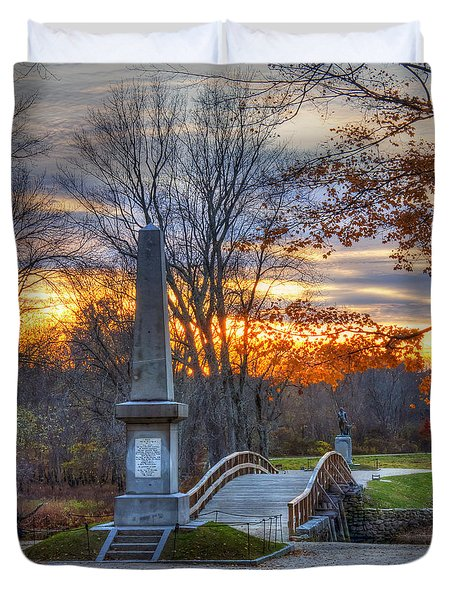Old North Bridge - Concord Ma Duvet Cover