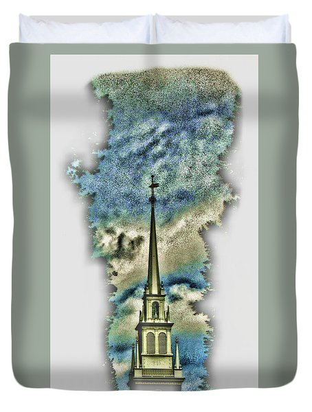 Old North Church Steeple Duvet Cover