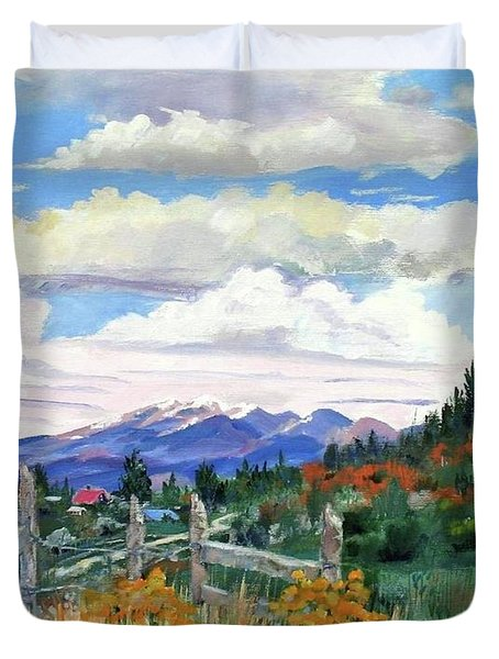 Old North Fence-in Colorado Duvet Cover