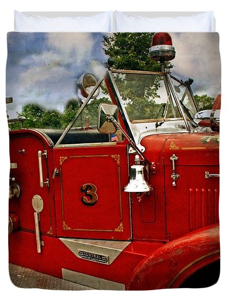 Duvet Cover featuring the photograph Old Number 3 by Marty Koch