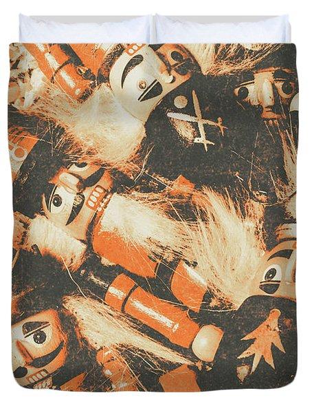 Old Nutcracker Infantry  Duvet Cover