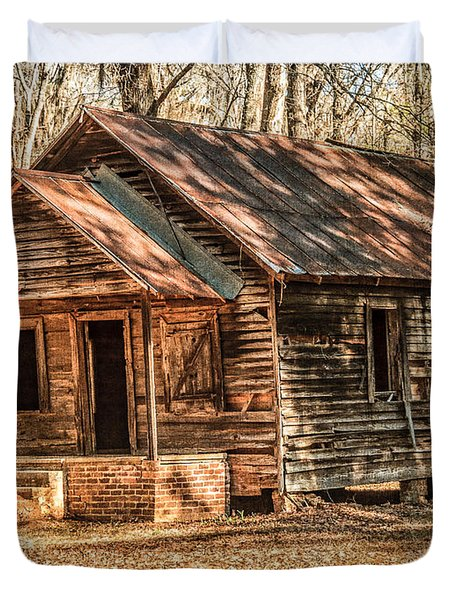Old One Room School House Duvet Cover by Phillip Burrow