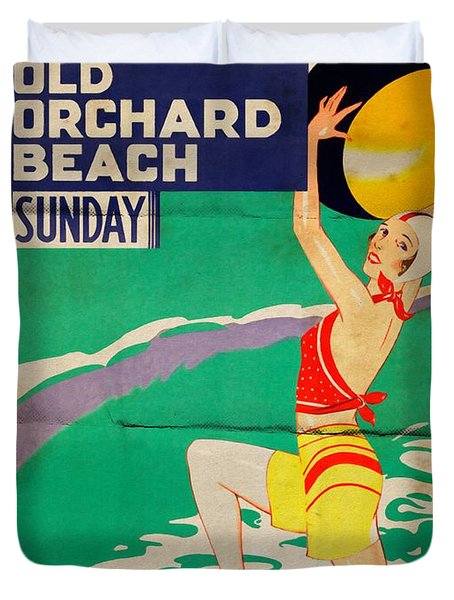 Old Orchard Beach - Folded Duvet Cover