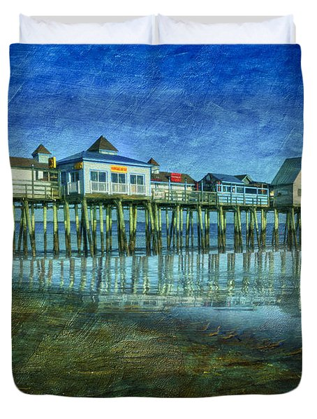 Old Orchard Beach Pier  Oob Duvet Cover