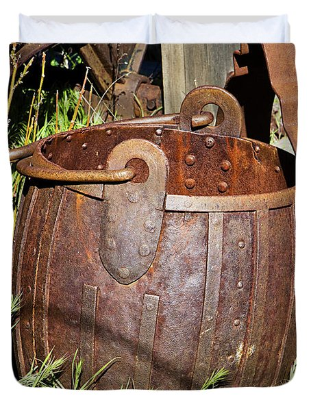 Old Ore Bucket Duvet Cover