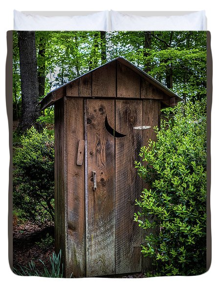 Old Outhouse Duvet Cover