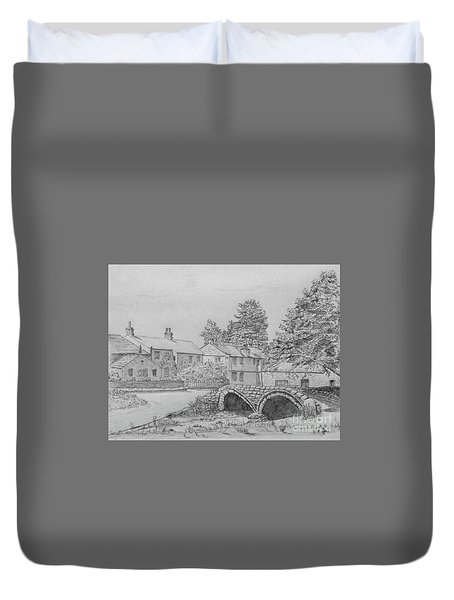 Old Packhorse Bridge Wycoller Duvet Cover
