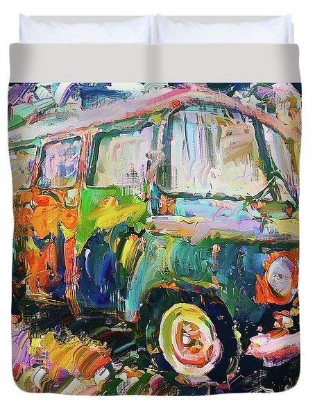 Old Paint Car Duvet Cover