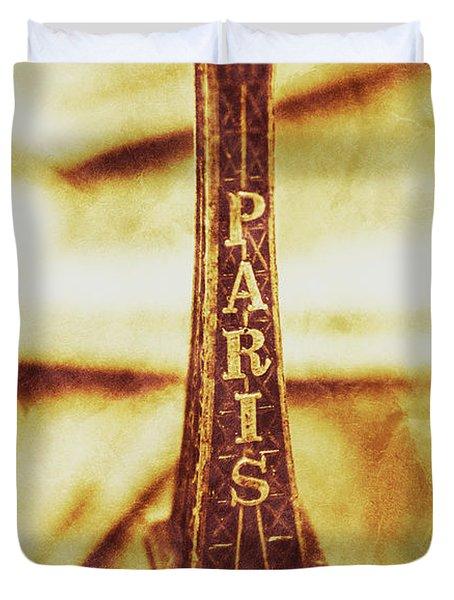 Old Paris Decor Duvet Cover